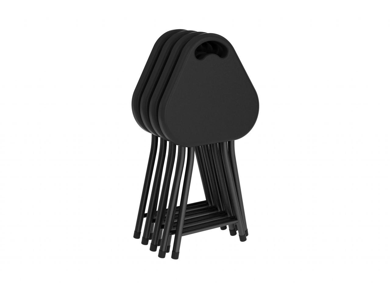 Folding Stool W Handle 4 Pack In Black Atlantic Inc