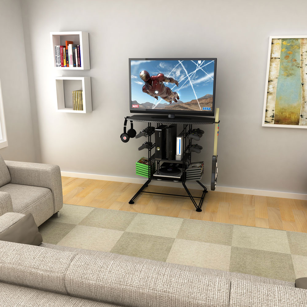 Centipede Game Storage And Tv Stand With Black Carbon