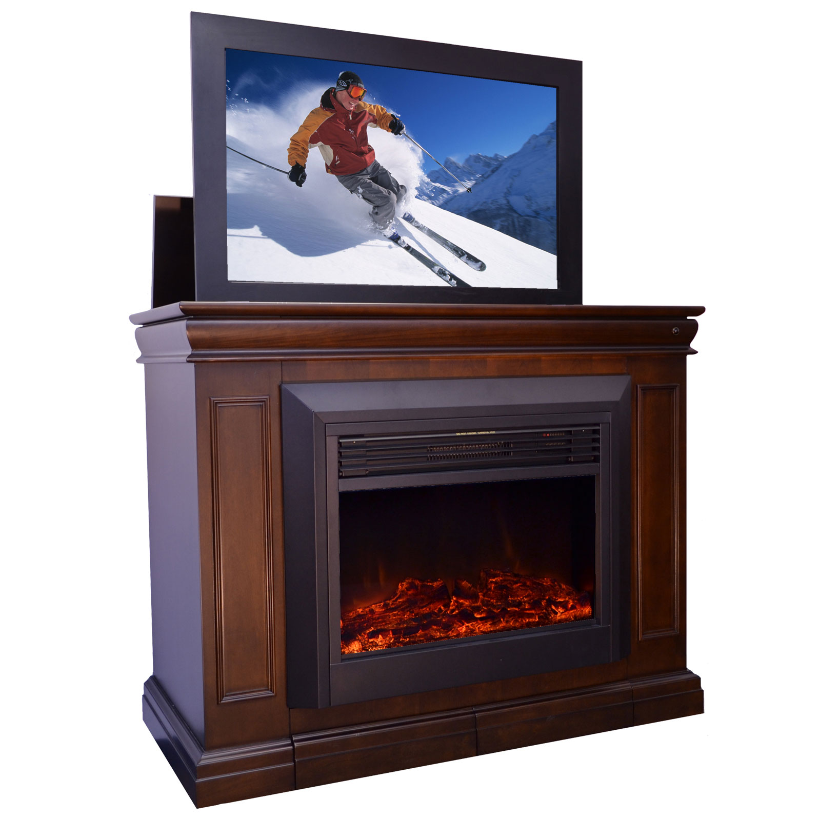 Conestoga Electric Fireplace TV Lift Cabinet - Touchstone - 71080