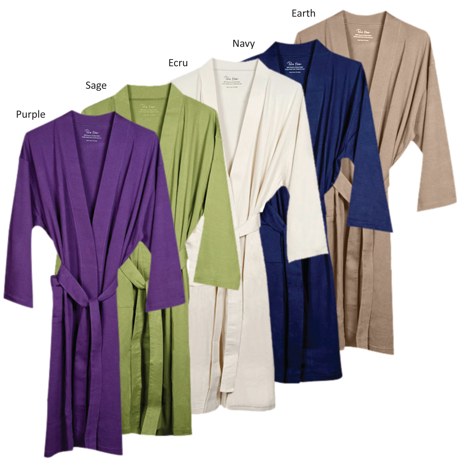 Organic Cotton Jersey Bathrobe