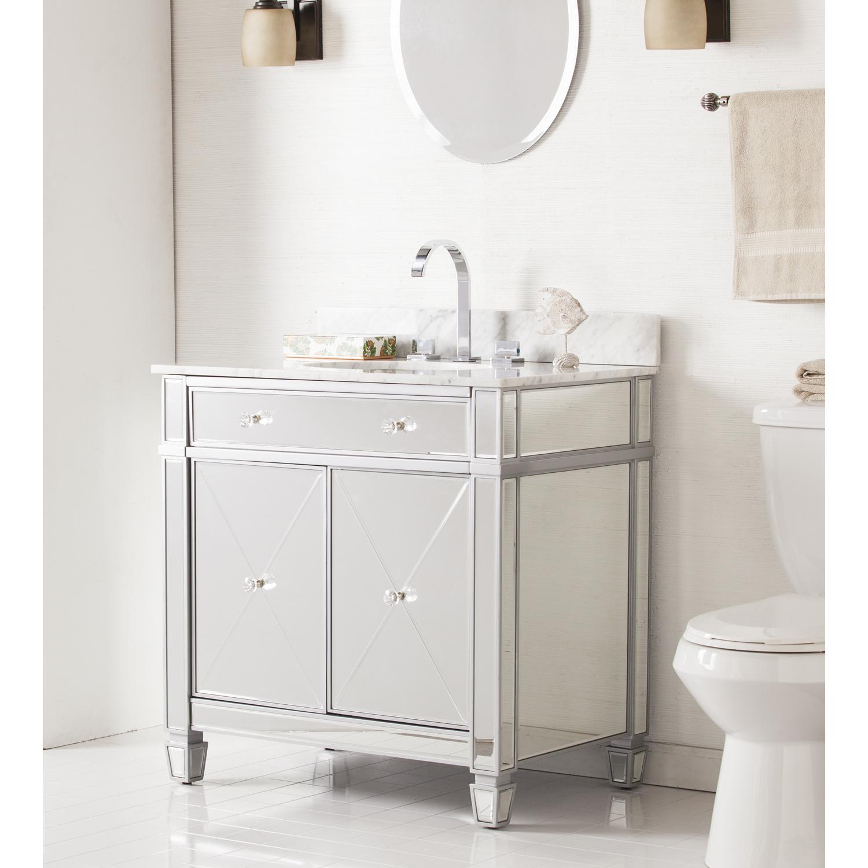 Mirage Double Door Bath Vanity Sink W Marble Top