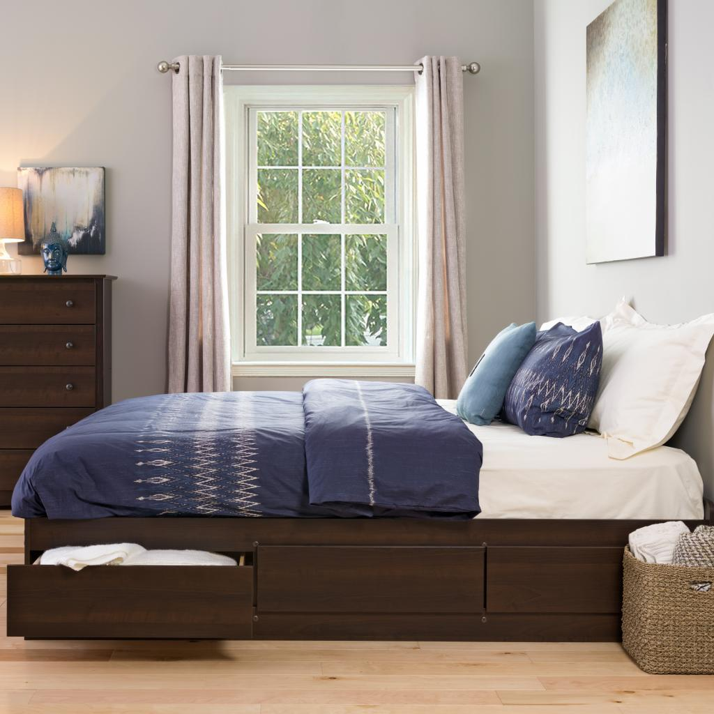 Espresso King Mate S Platform Storage Bed With 6 Drawers
