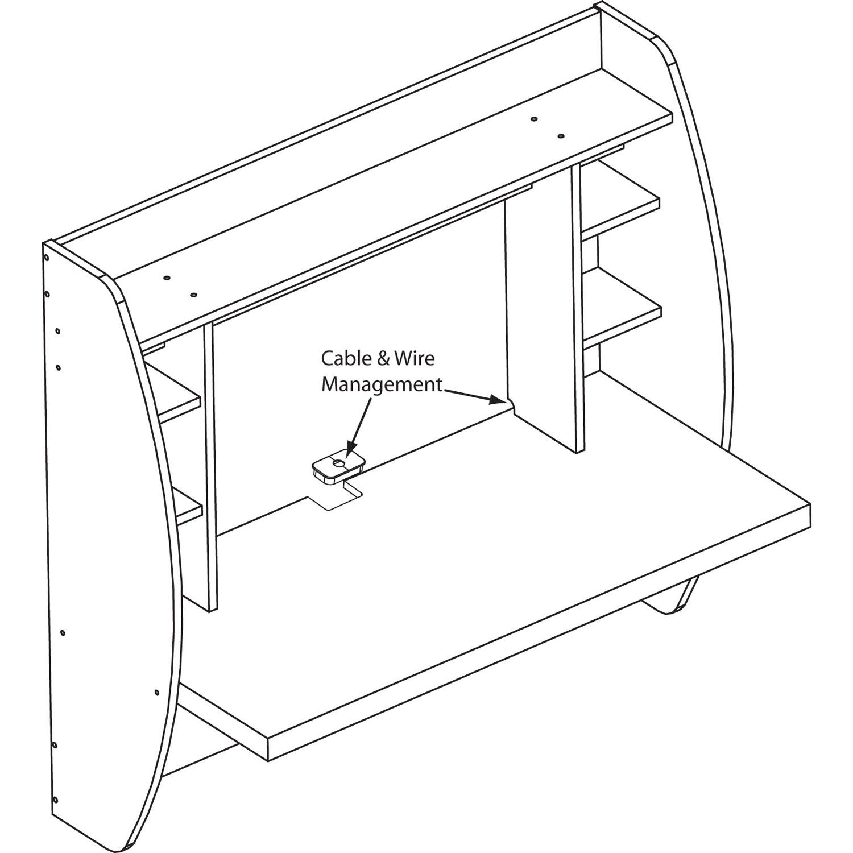 Espresso Floating Desk With Storage Prepac Eehw 0200 1