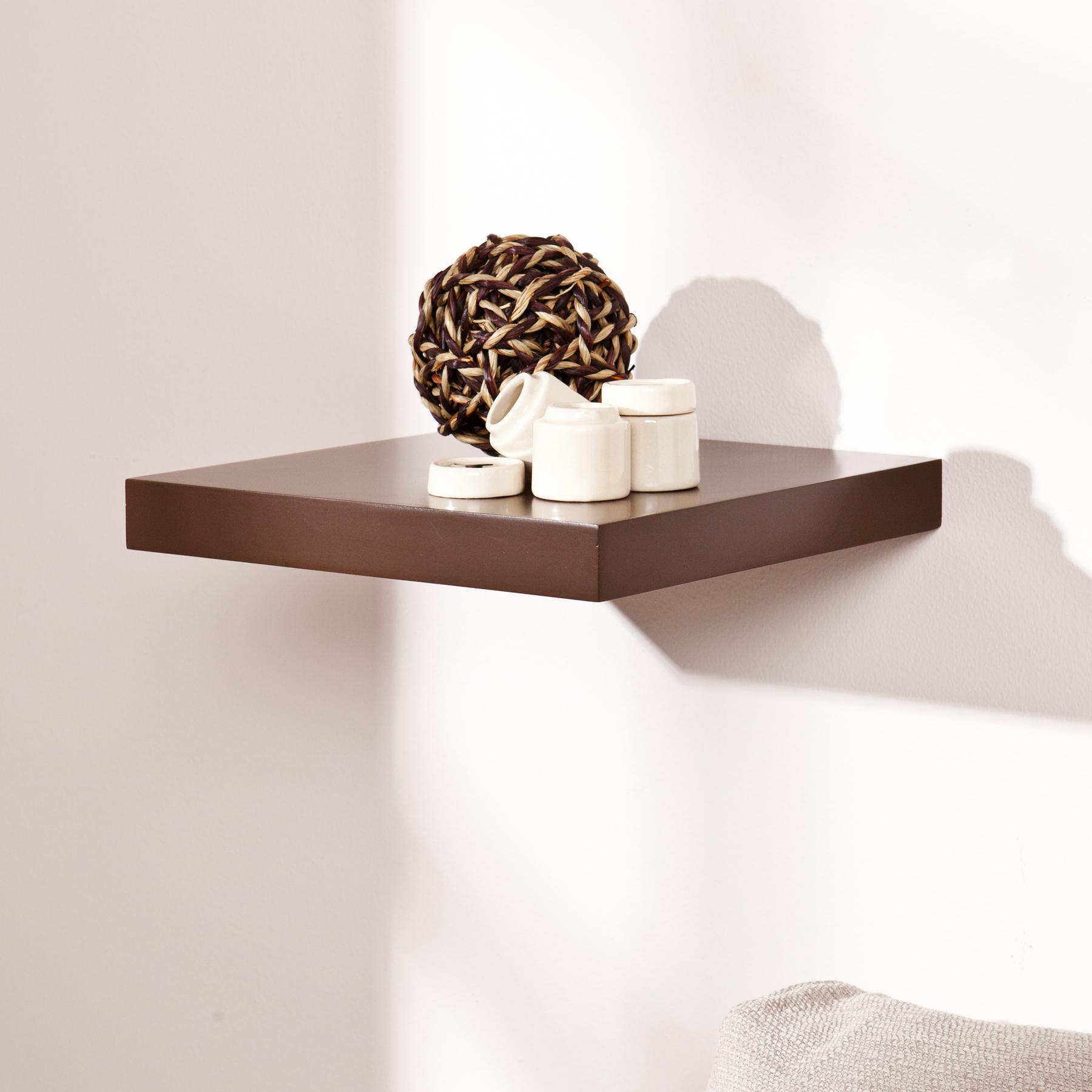 Aspen Floating Shelf 10 Inch Chocolate