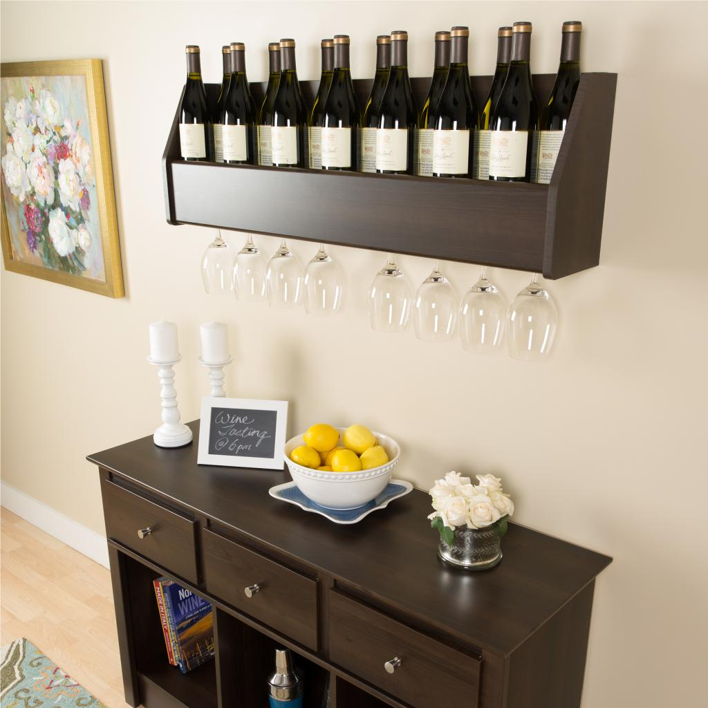 floating wine rack in espresso prepac esow 0200 1. Black Bedroom Furniture Sets. Home Design Ideas
