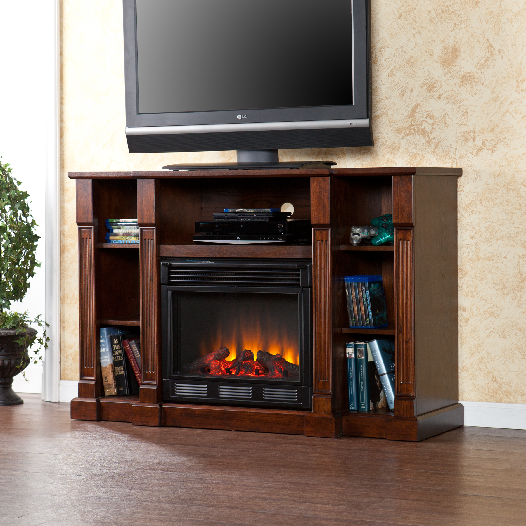 kendall electric media fireplace espresso