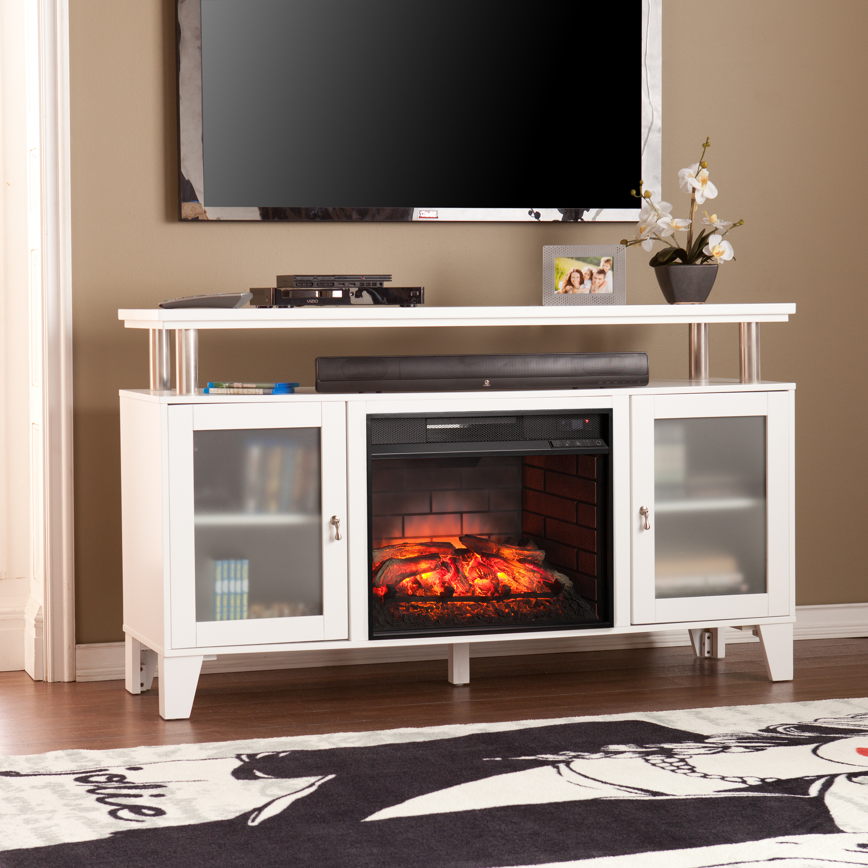 finish in cherry espresso fireplaces xiorex mantel w electric firebox monaghan greenway media fireplace by