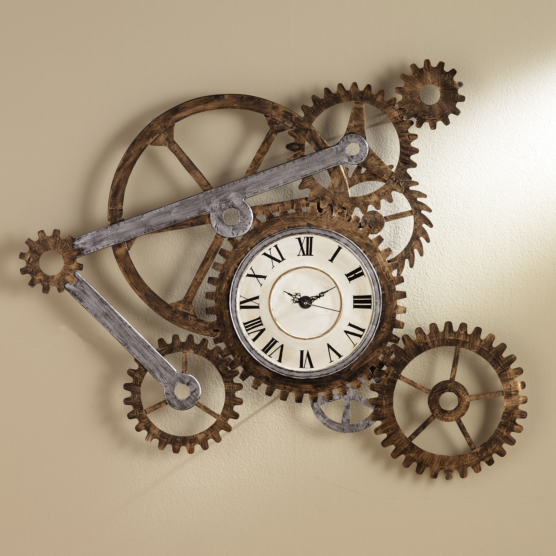 Manly Wall Decor gear wall art with clock
