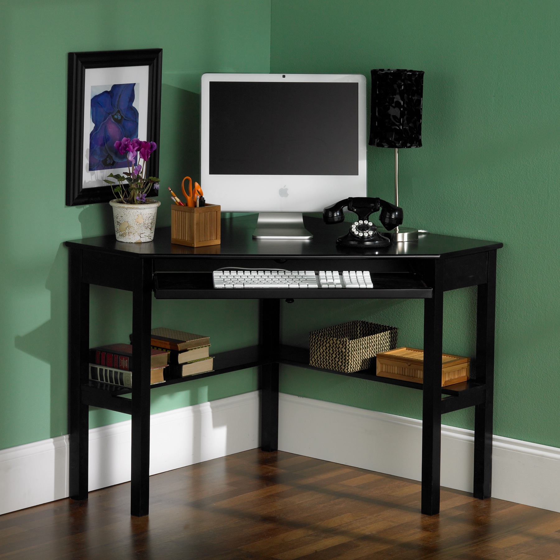 Home Computer Desks & Accessories Corner Computer Desk - Black