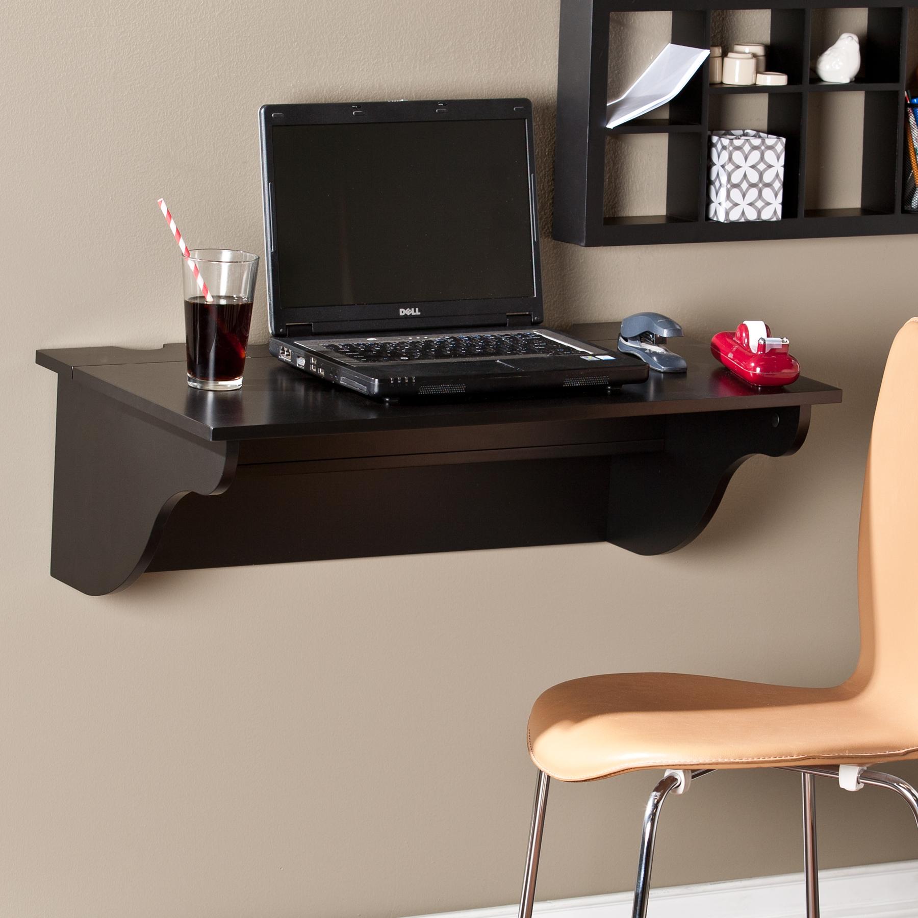Barrie Wall Mount Desk Ledge Black
