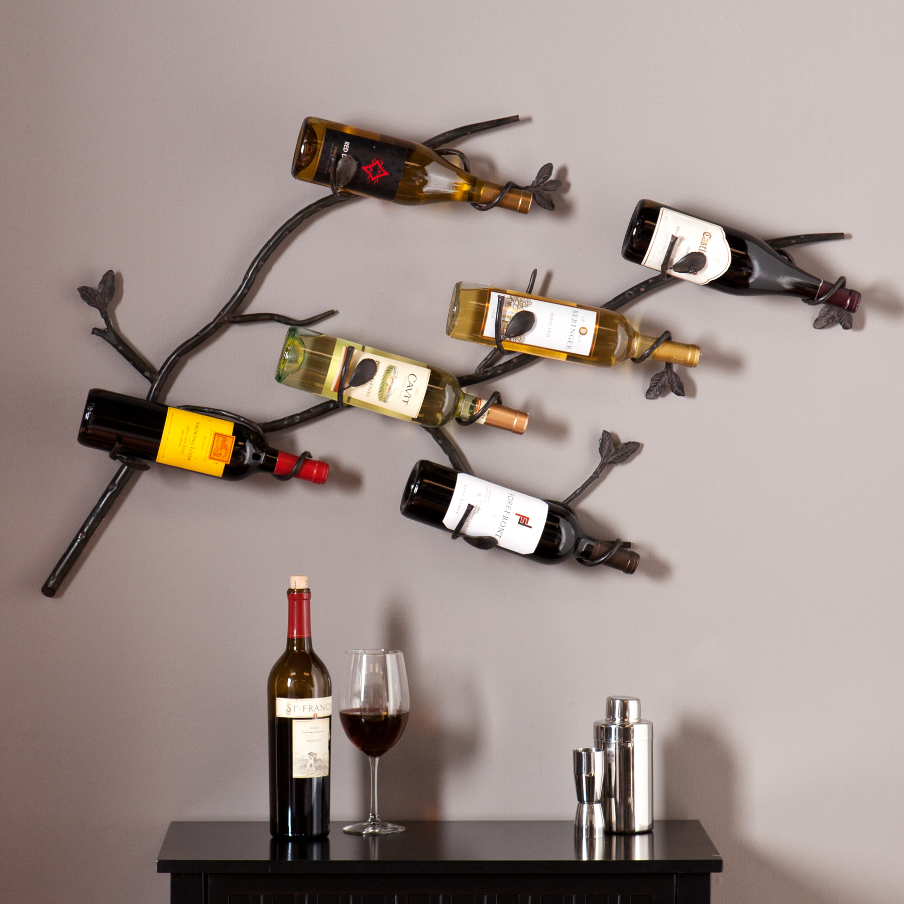 Brisbane Wall Mount Wine Rack