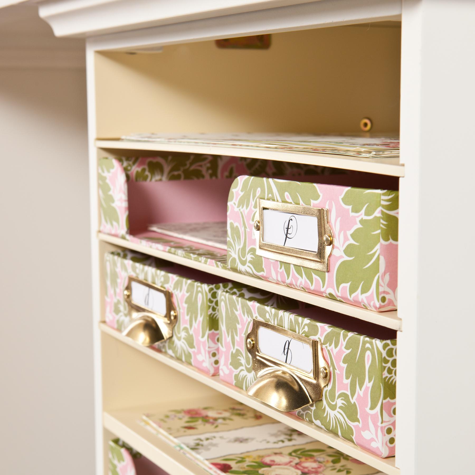 Anna Griffin Craft Room Paper Bin Storage Organizer Loading Zoom