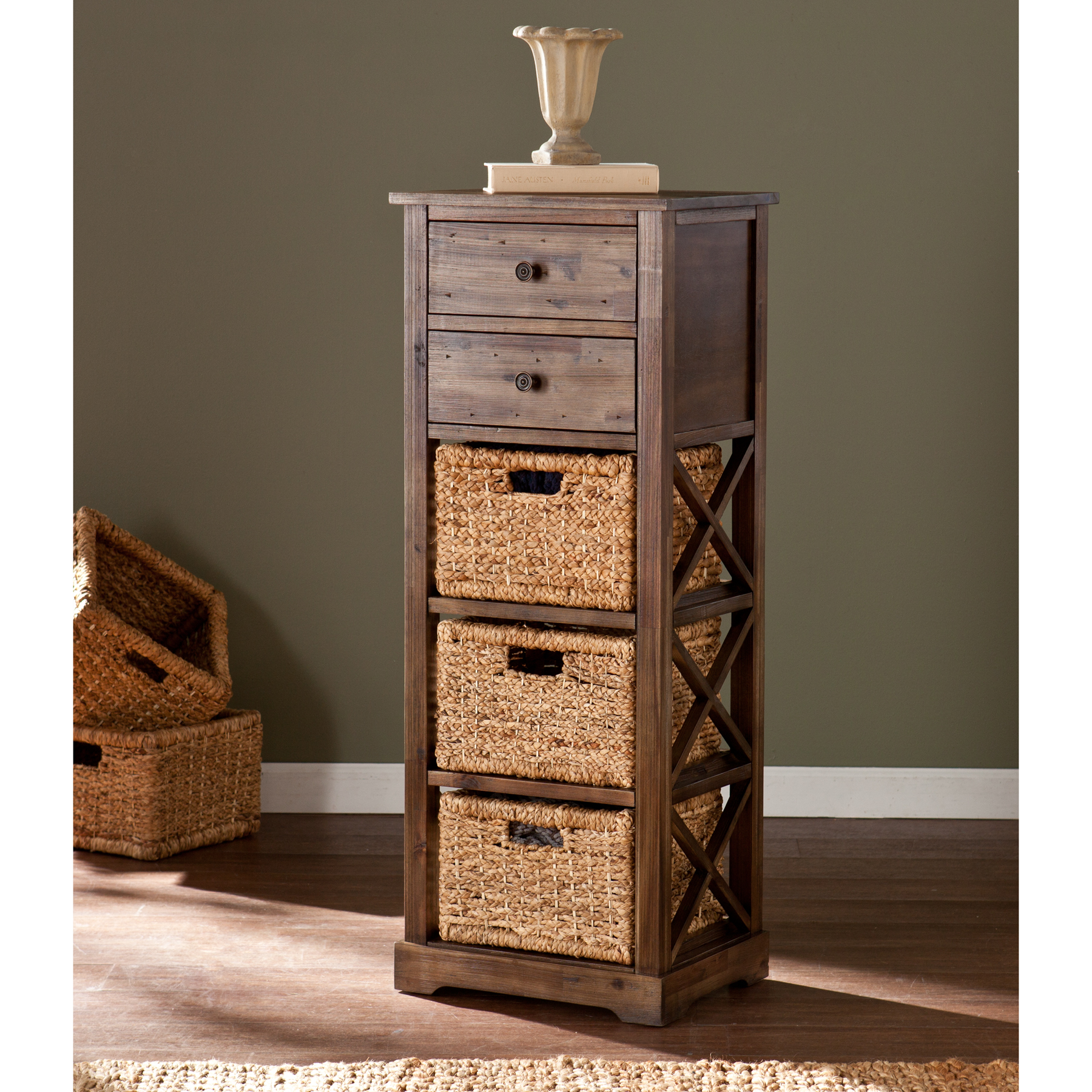 & Jayton 3-Basket Storage Tower