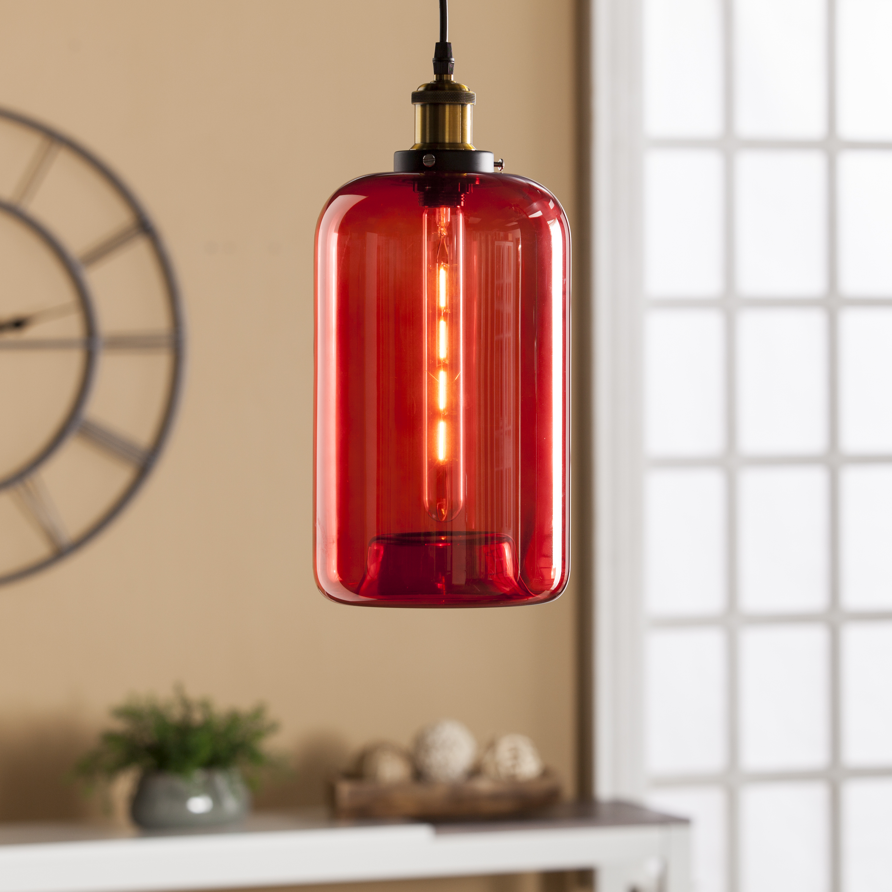 Coraline colored glass mini pendant lamp red southern coraline colored glass mini pendant lamp red aloadofball Choice Image