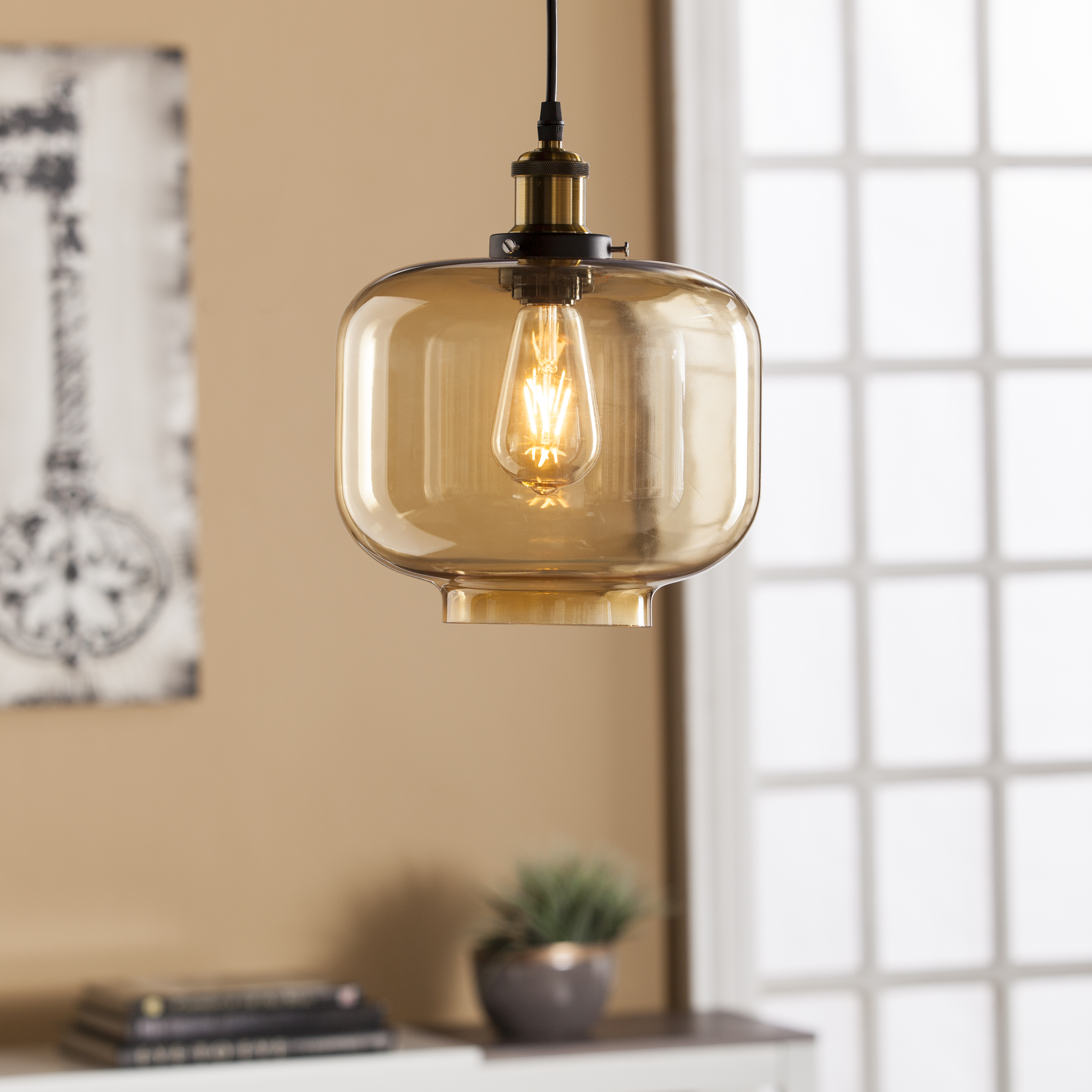 colored glass pendant lights. Marion Colored Glass Pendant Lamp - Amber Lights