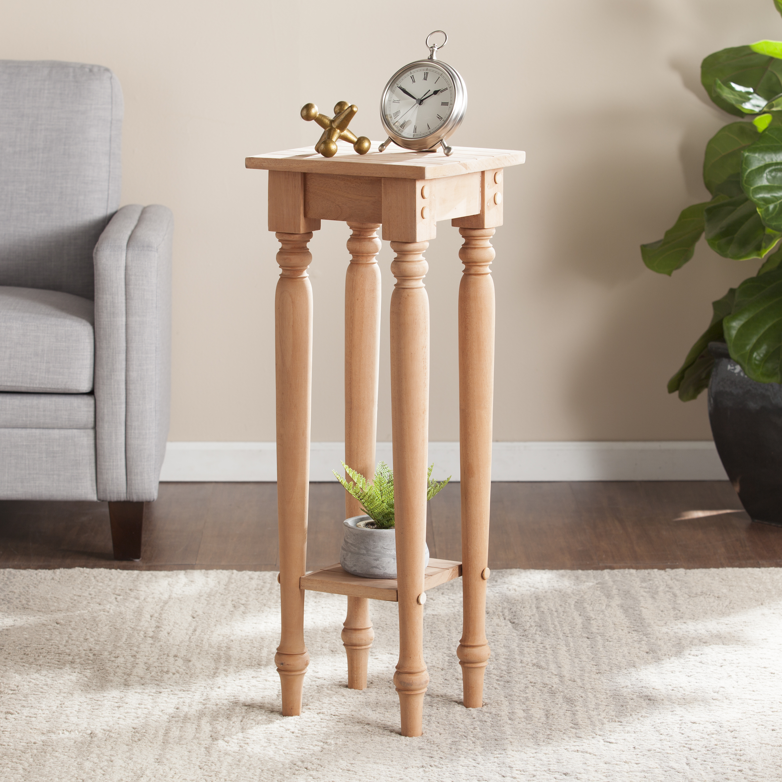 Home End Tables Harwich Unfinished Wood Accent Table