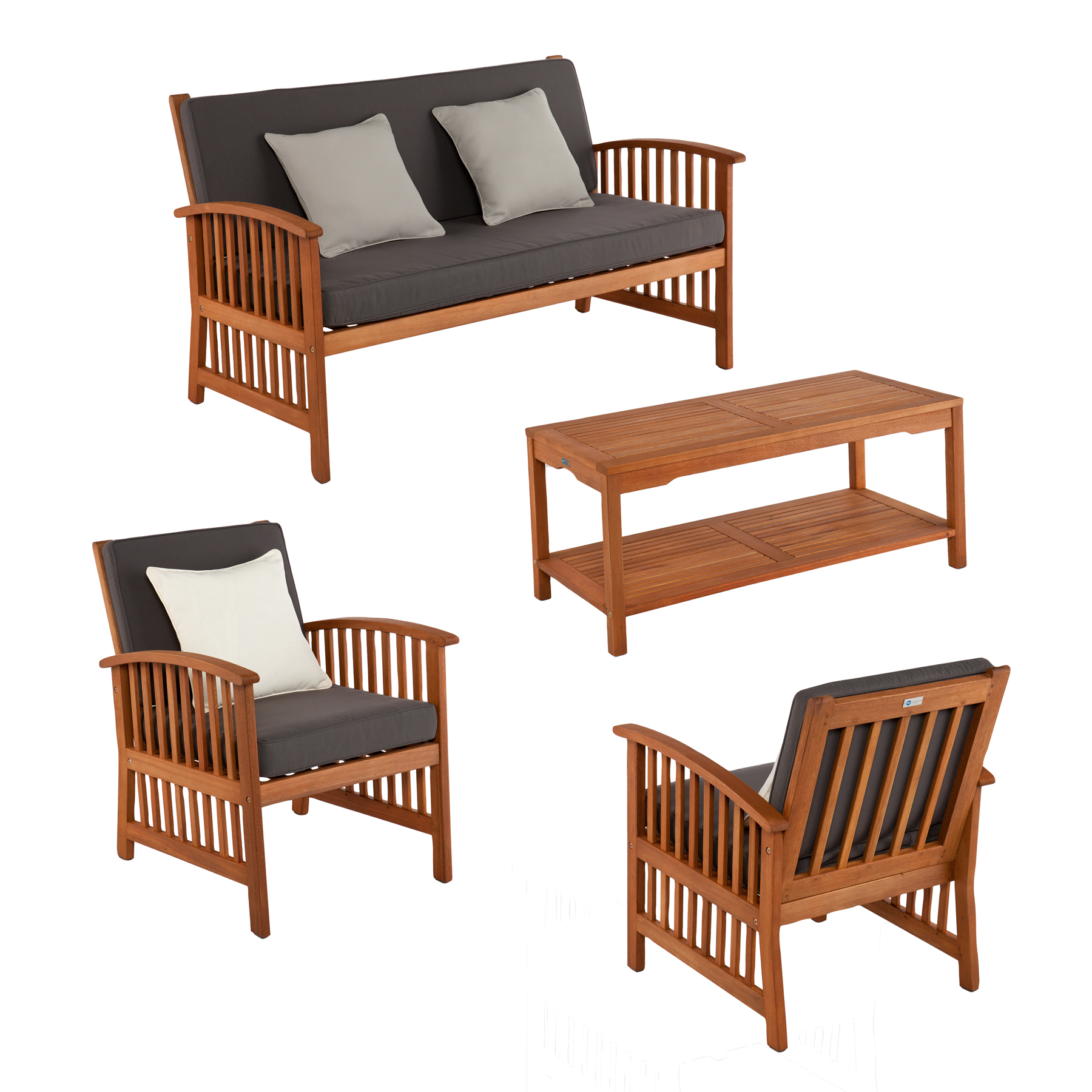 Catania Outdoor Deep Seating 4Pc Set