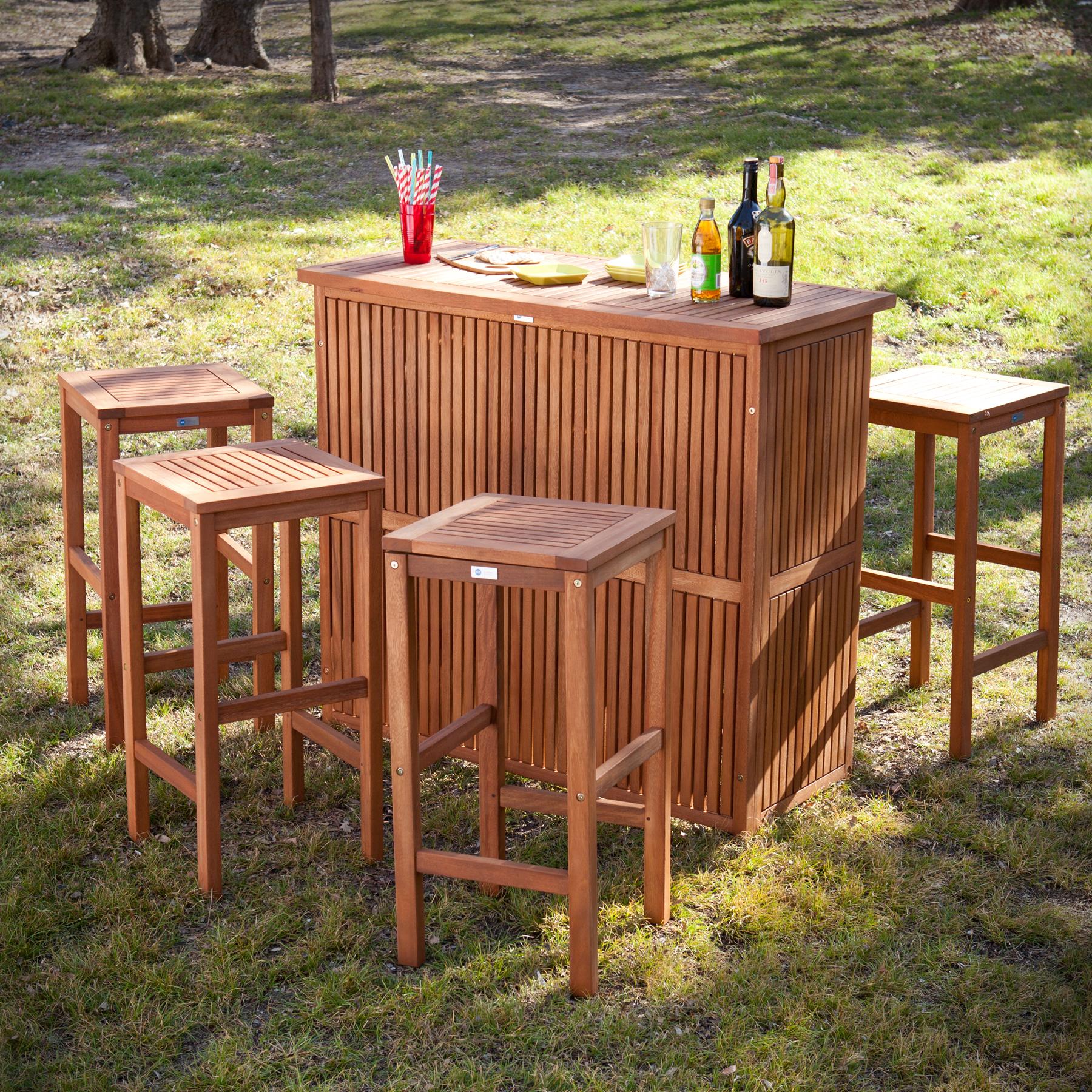 trinidad outdoor bar 5pc set