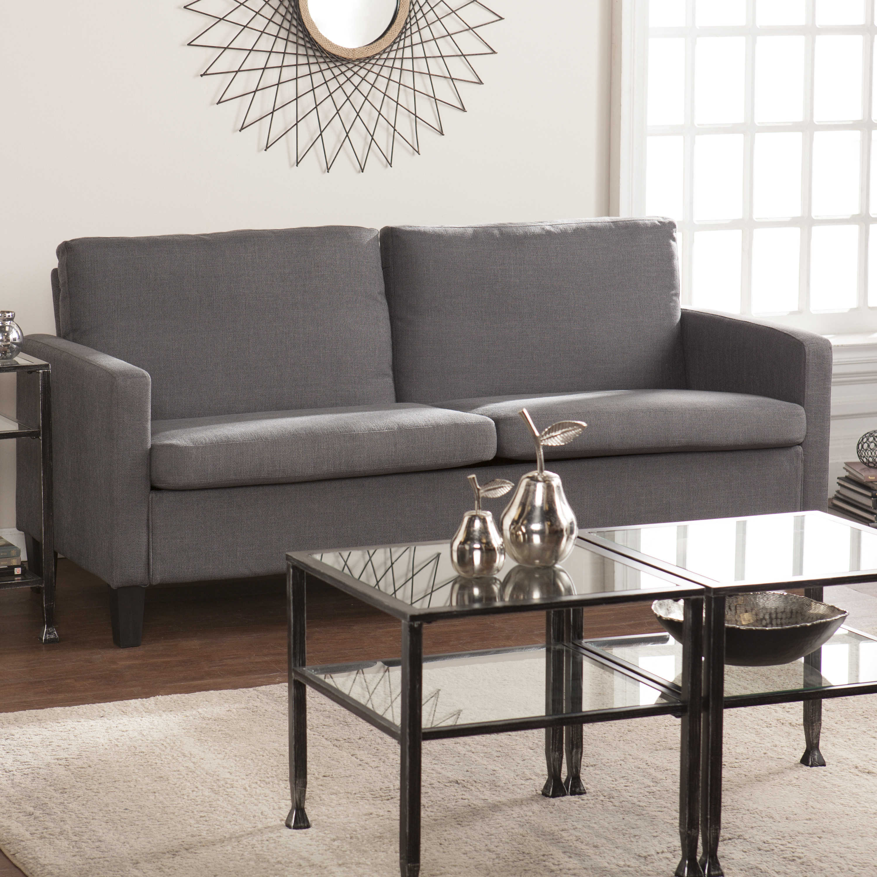 Altamont Small Space Sofa Gray Southern Enterprises Inc UP9893