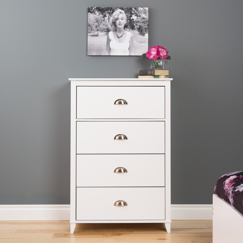 yaletown 4 drawer chest white. Black Bedroom Furniture Sets. Home Design Ideas