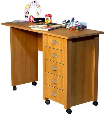 Mobile Desk & Craft Table  oak