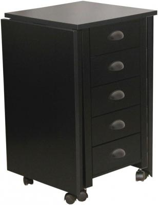 Double Mobile Desk & Craft Table black