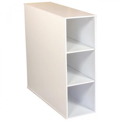 Project Center 3 Bin Cabinet white