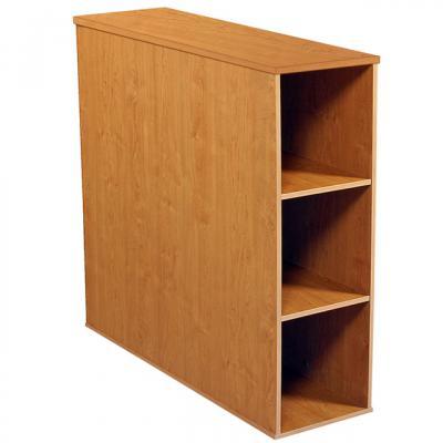 Project Center 3 Bin Cabinet oak