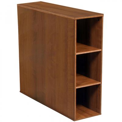 Project Center 3 Bin Cabinet walnut