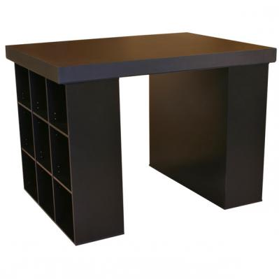 Project Center With 2 Bookcases black