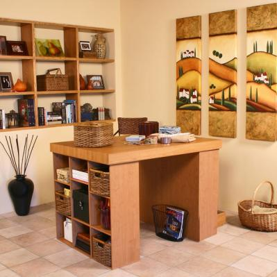 Project Center With 2 Bookcases oak