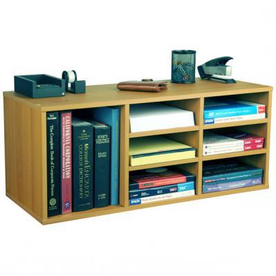 9 Compartment Desk Organizer   oak