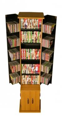 Media Storage Tower oak