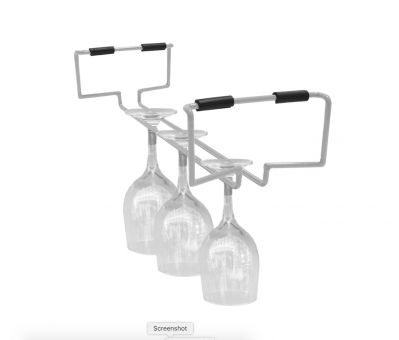 Atlantic Cart System Wire Wine Glass Rack