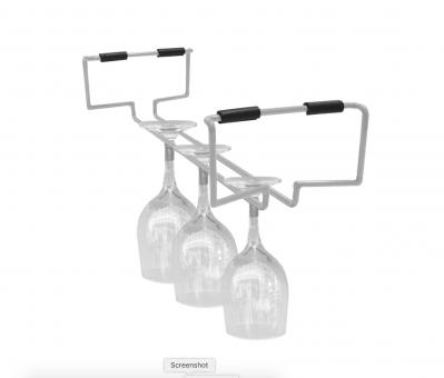 Atlantic Cart System Wire Wine Glass Rack