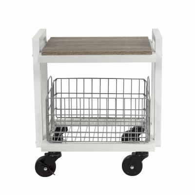 Atlantic Cart System 2 Tier Narrow White