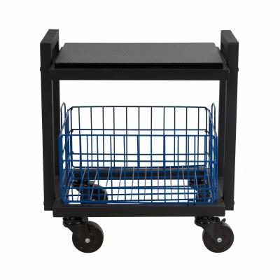 Atlantic Cart System 2 Tier Narrow Black