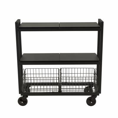Atlantic Cart System 3 Tier Wide Black