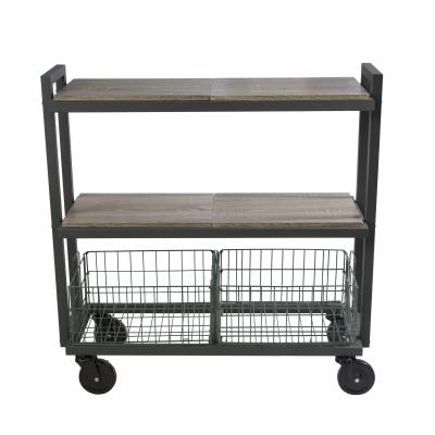Atlantic Cart System 3 Tier Wide Green