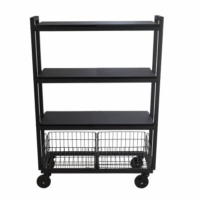 Atlantic Cart System 4 Tier Wide Black