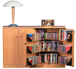 Double Multimedia TV Cabinet  oak