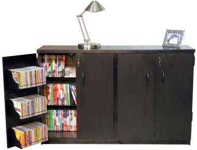 Double Multimedia TV Cabinet  black