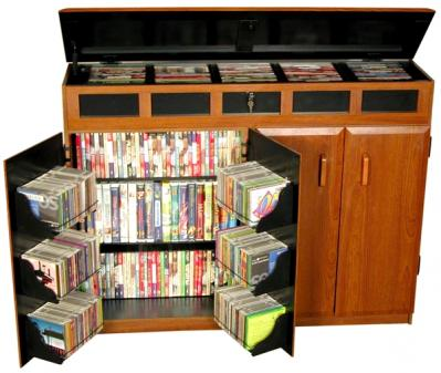 Top Load Media Cabinet cherry/black