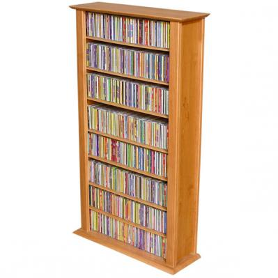 Media Storage Tower-Regular Single oak