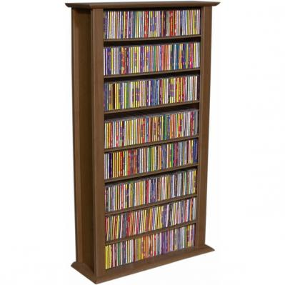 Media Storage Tower-Regular Single walnut