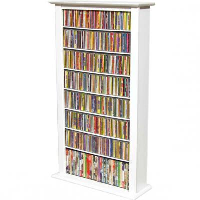 Media Storage Tower-Regular Single white