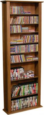 Media Storage Tower-Tall Single walnut