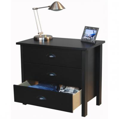3 Drawer Nouvelle Chest black