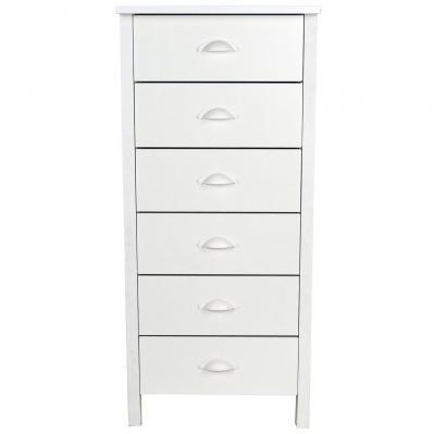 6 Drawer Nouvelle Lingerie Bureau white