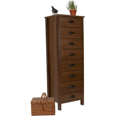 8 Drawer Nouvelle Lingerie Bureau walnut